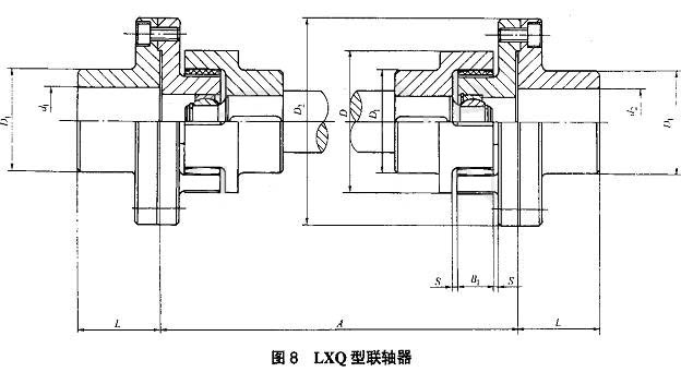LXQ接中间轴球铰型星形弹性联轴器