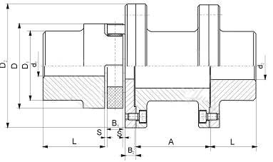 LXT接中间套型星形弹性联轴器