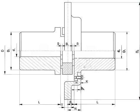 LXP带制动盘型星形弹性联轴器