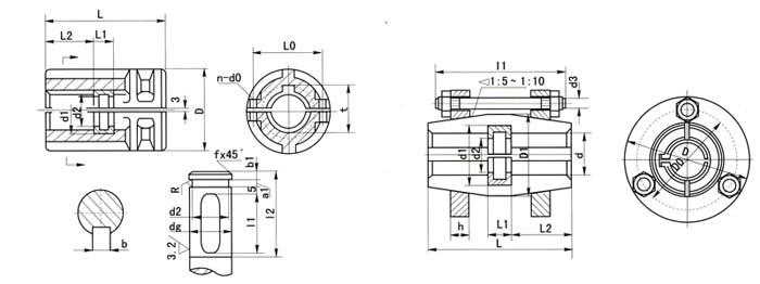 夹壳联轴器
